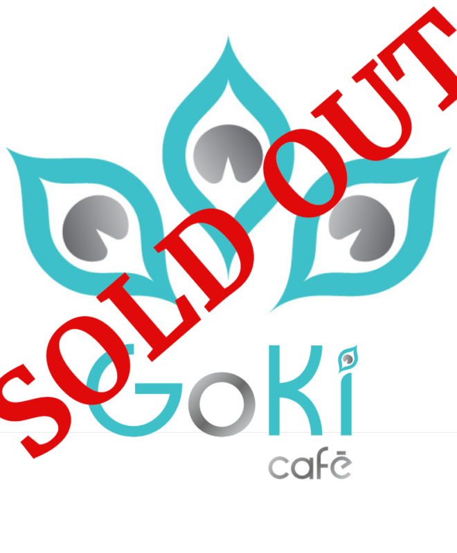 Goki Café logo with Sold Out across it