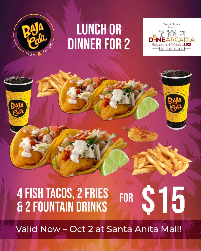 Baja Cali Dine Arcadia Lunch Specials