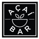 Acai Bar black and white logo