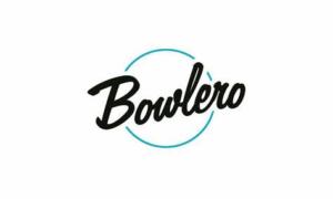 Bowlero logo black lettering