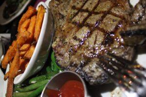 Derby steak and fries
