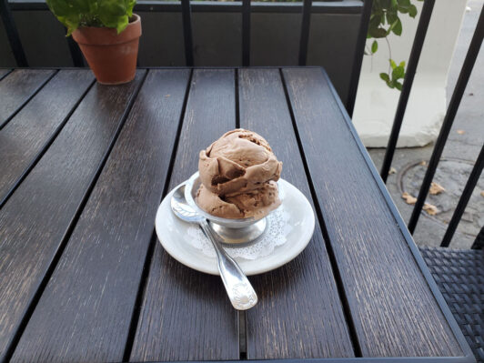 Homemade chocolate, chocolate ice cream from The Only Place In Town