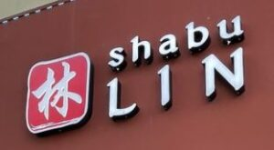front of building at Shabu Lin